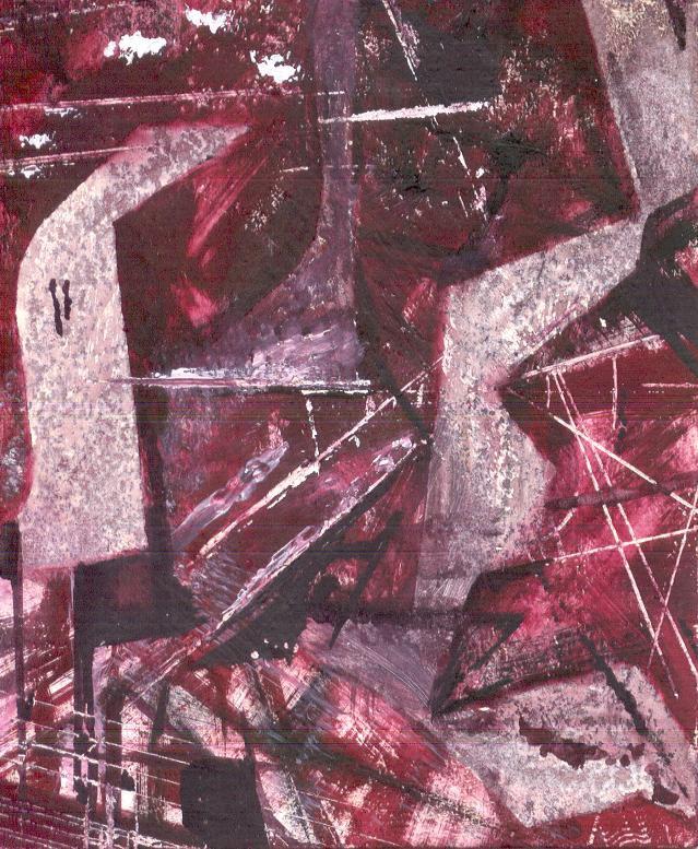 Chaos, 13*10 cm, gouache on paper, 2003