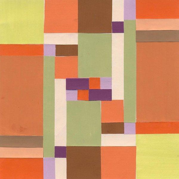 Autumn, 16*16 cm, painted paper collage, 2003