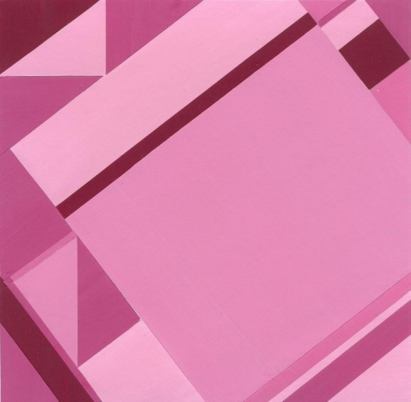 Pink, 16*16 cm, painted paper collage, 2004