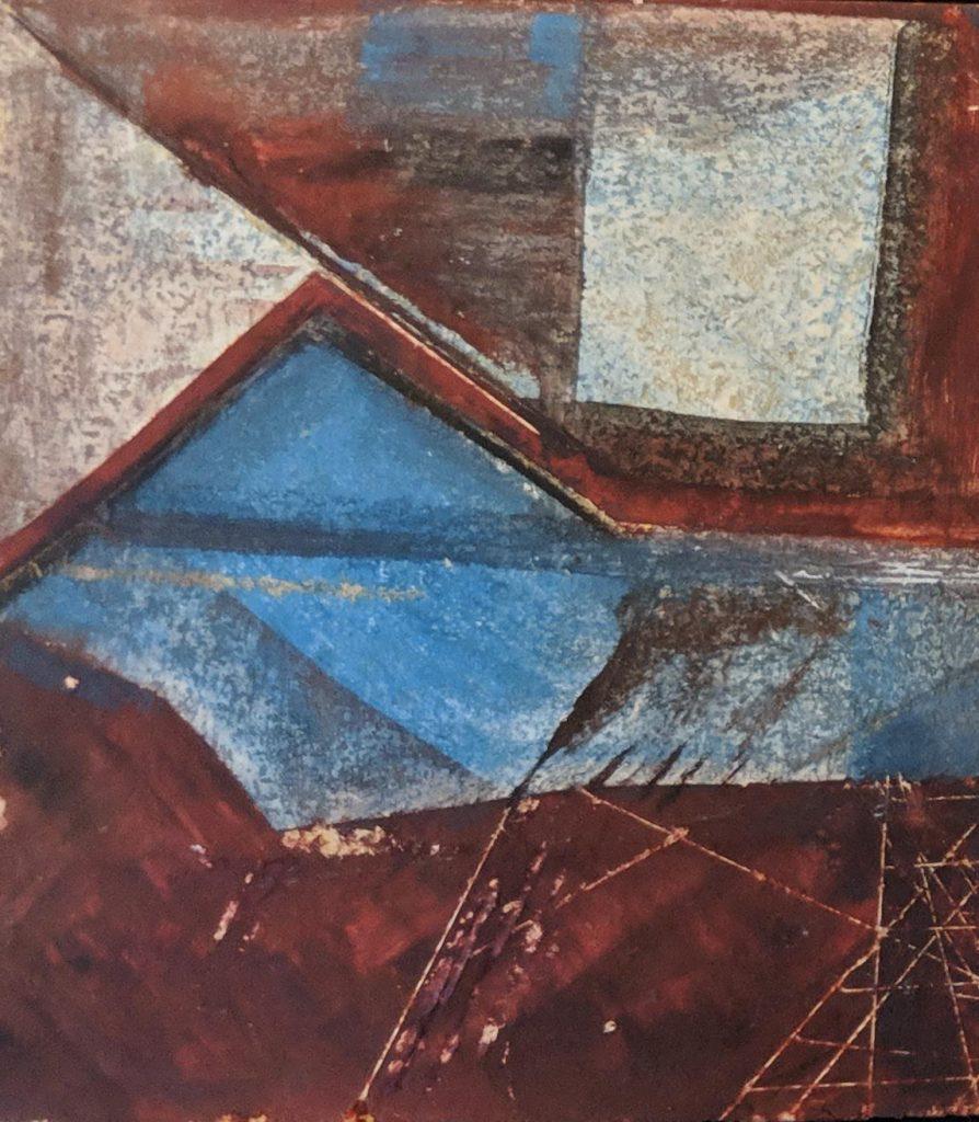 Process 1, 13*10 cm, gouache on paper, 2005