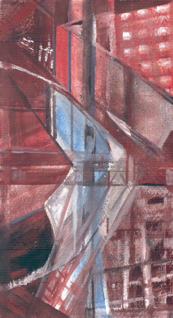 Tower, 20*12 cm, gouache on paper, 2003